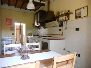 The kitchen as seen from the window